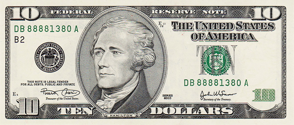 Ten Dollar Bill Us Http Www Wpclipart Com Money Us Currency Us