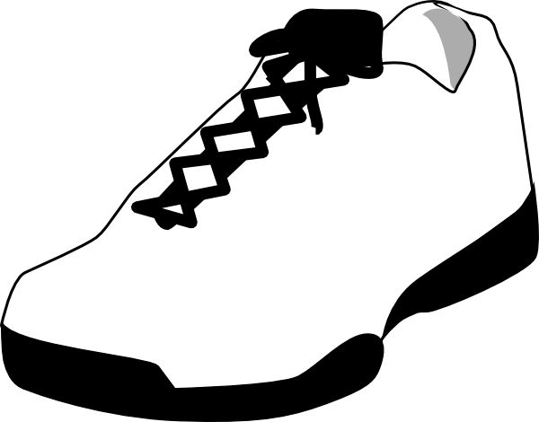 Tennis Shoes Clipart Black And White-tennis shoes clipart black and white-13