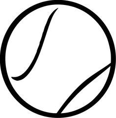 Tennis ball by Steren - ball, ball, clip art, clipart, image,