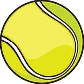 Illustration of a tennis ball; tennis ball