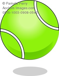 Sports Cartoon Tennis Ball Clipart #1