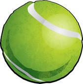 Tennis Ball Icon; Vector Tennis Ball