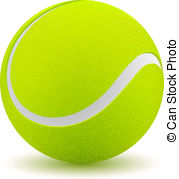 . ClipartLook.com Tennis ball on white background. Vector illustration