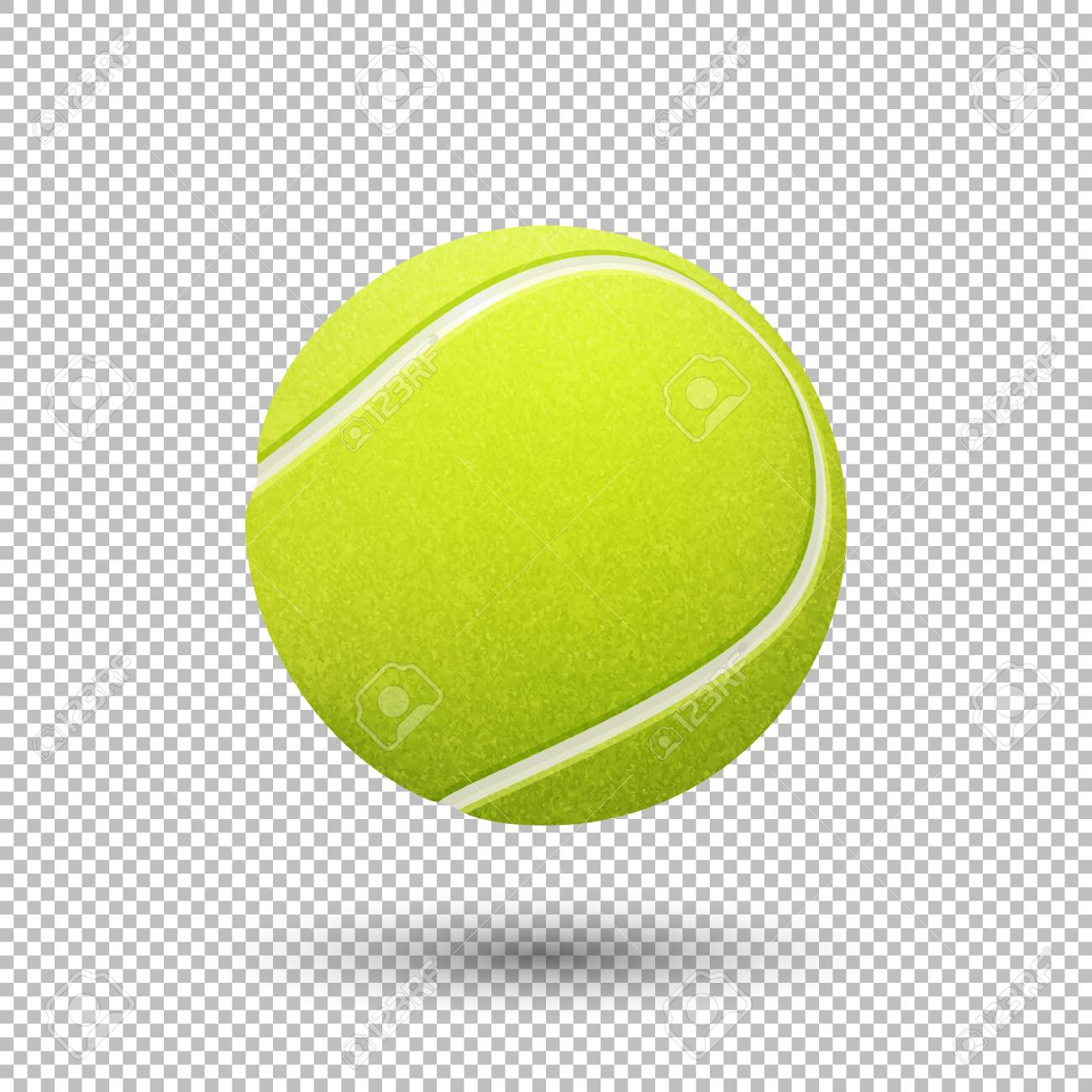 Vector - Vector realistic flying tennis ball closeup isolated on  transparent background. Design template in EPS10.