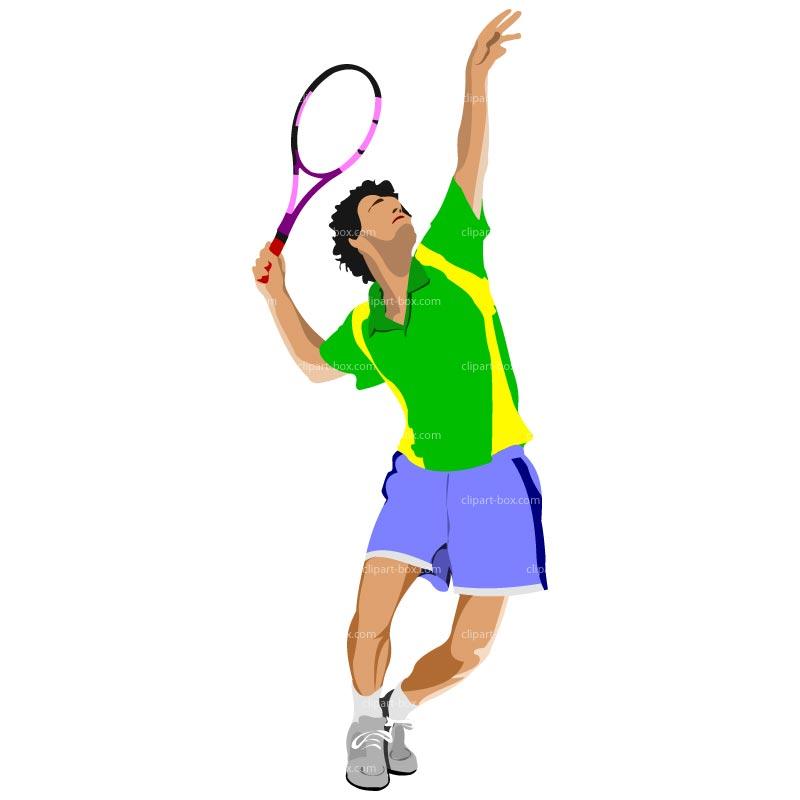 tennis clip art 5 boy