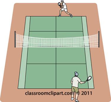 Tennis Clipart Players On Grass Tennis C-Tennis Clipart Players On Grass Tennis Court Classroom Clipart-8