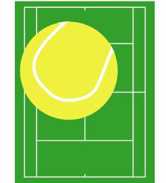 tennis clipart - Tennis Court Clipart