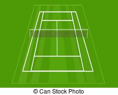 ... Tennis court - A simple grass tennis court