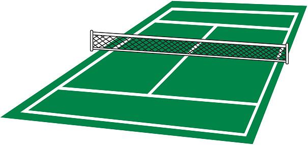 ... Tennis Court Clip Art, Ve - Tennis Court Clipart