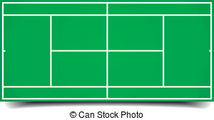 tennis court - detailed illustration of a tennis court,... ...