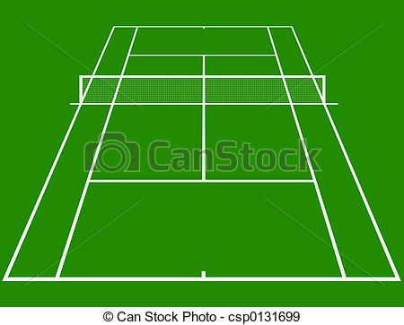 ... Tennis court - tennis cou - Tennis Court Clipart