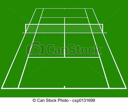 ... Tennis court - tennis court layout i-... Tennis court - tennis court layout in perspective-15