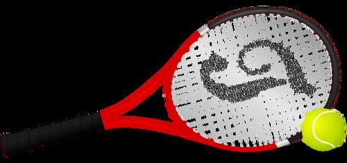 Tennis racket and ball vector clip art public domain vectors