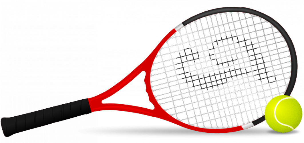 Tennis racket and ball vector clip art | Public domain vectors