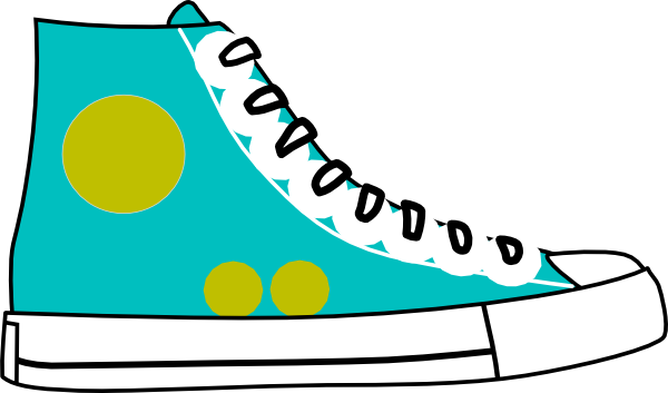 tennis shoes clipart black and white