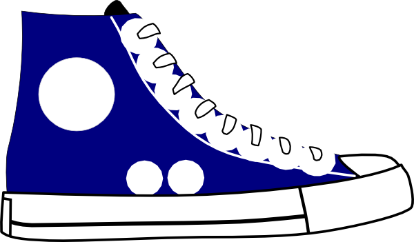 Tennis Shoes Clipart Black And White Fre-Tennis shoes clipart black and white free 2-17
