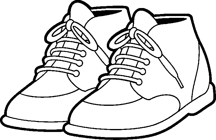 Tennis shoes clipart black and white free 3