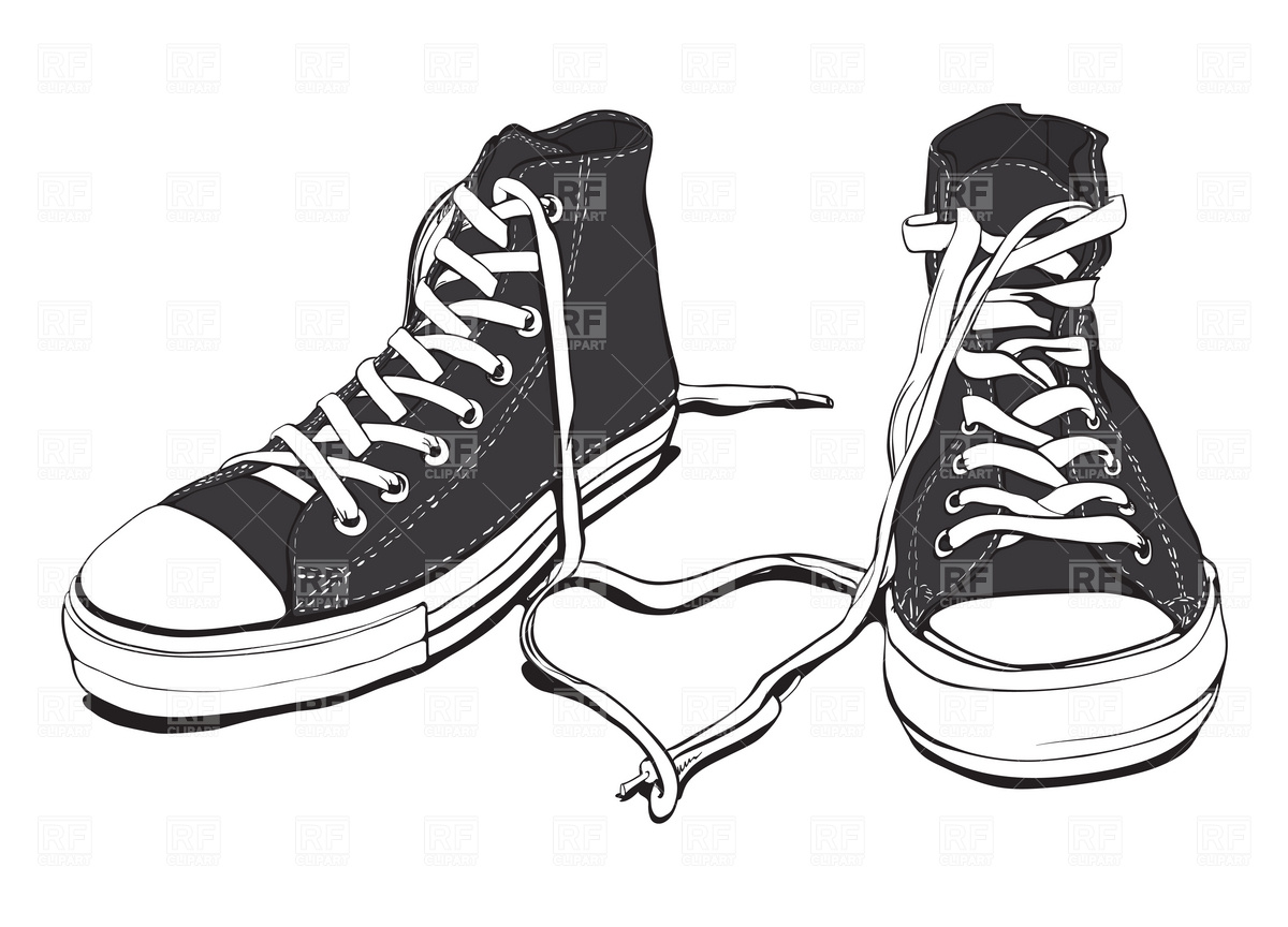 Tennis Shoes Clipart Clipart  - Clip Art Sneakers