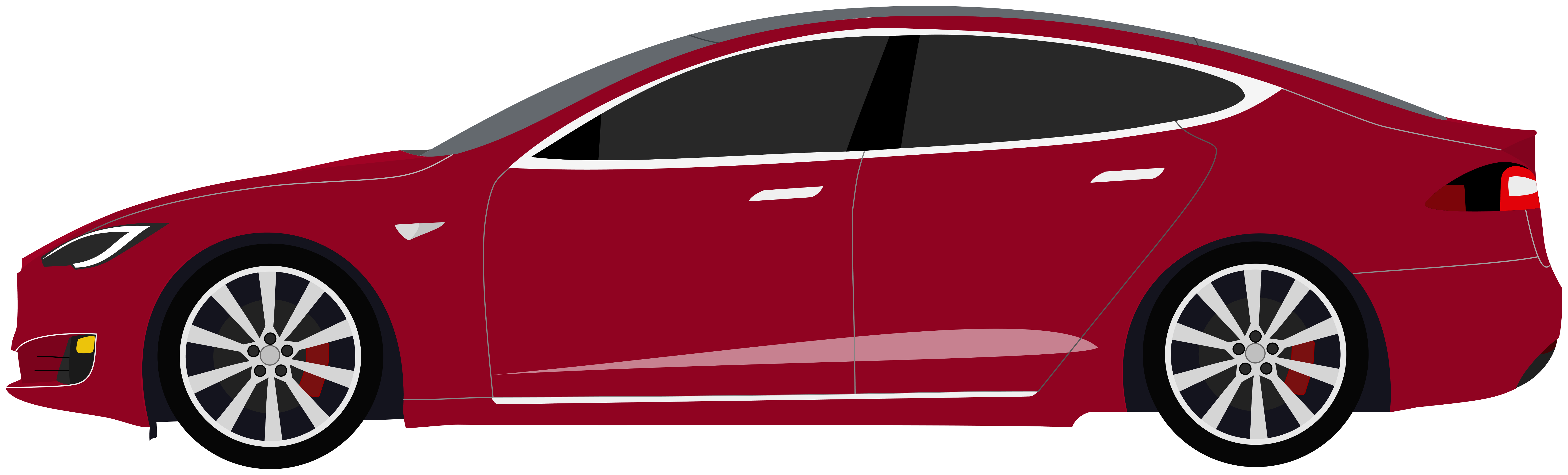 Black Tesla Model S Clipart. Signature Red Model S
