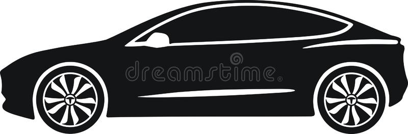 Download Tesla model 3 stock vector. Illustration of environmental -  84027544