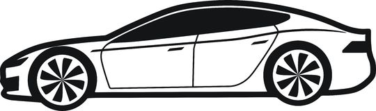 Model s. Car technology,car ecological, car fast,car bio Stock Photography