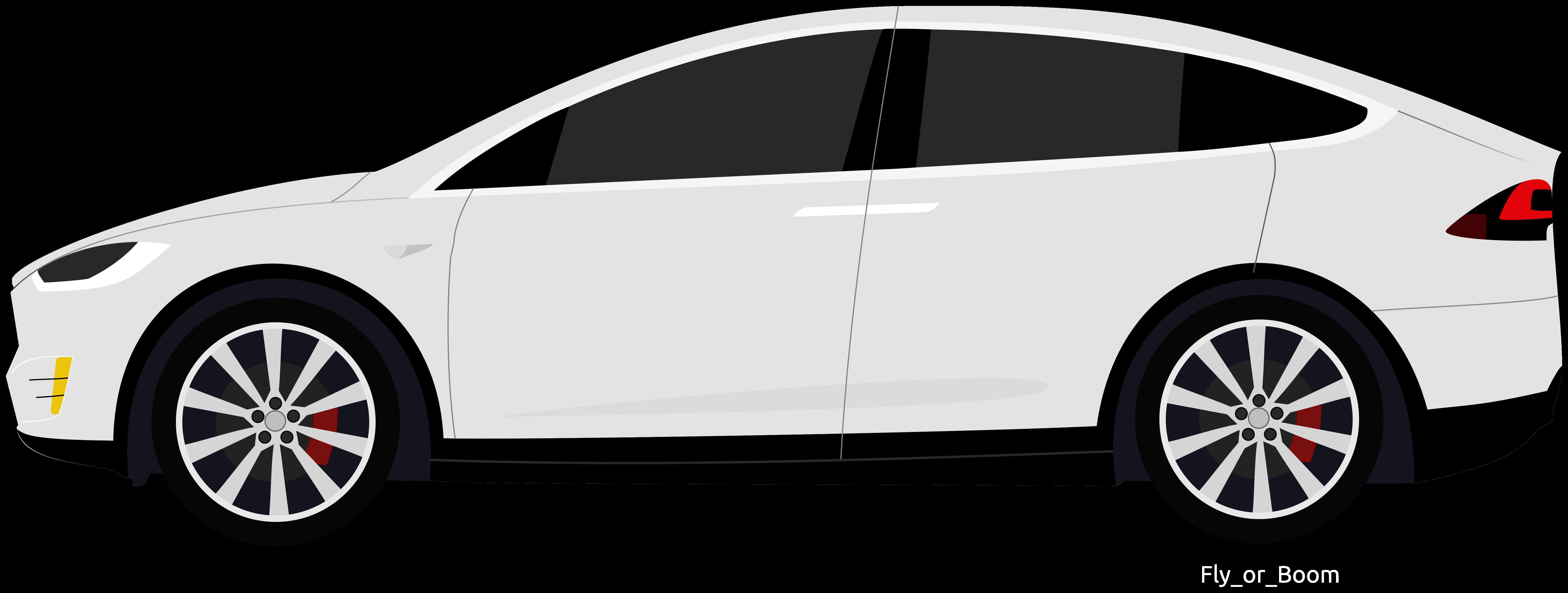 White Tesla Model X Clipart