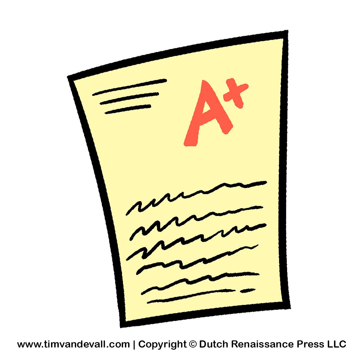 Test paper clipart tim