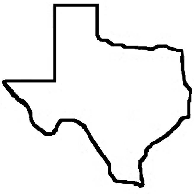 Texas Outline Clipart-texas outline clipart-10