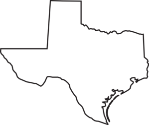 Texas outline clipart free .
