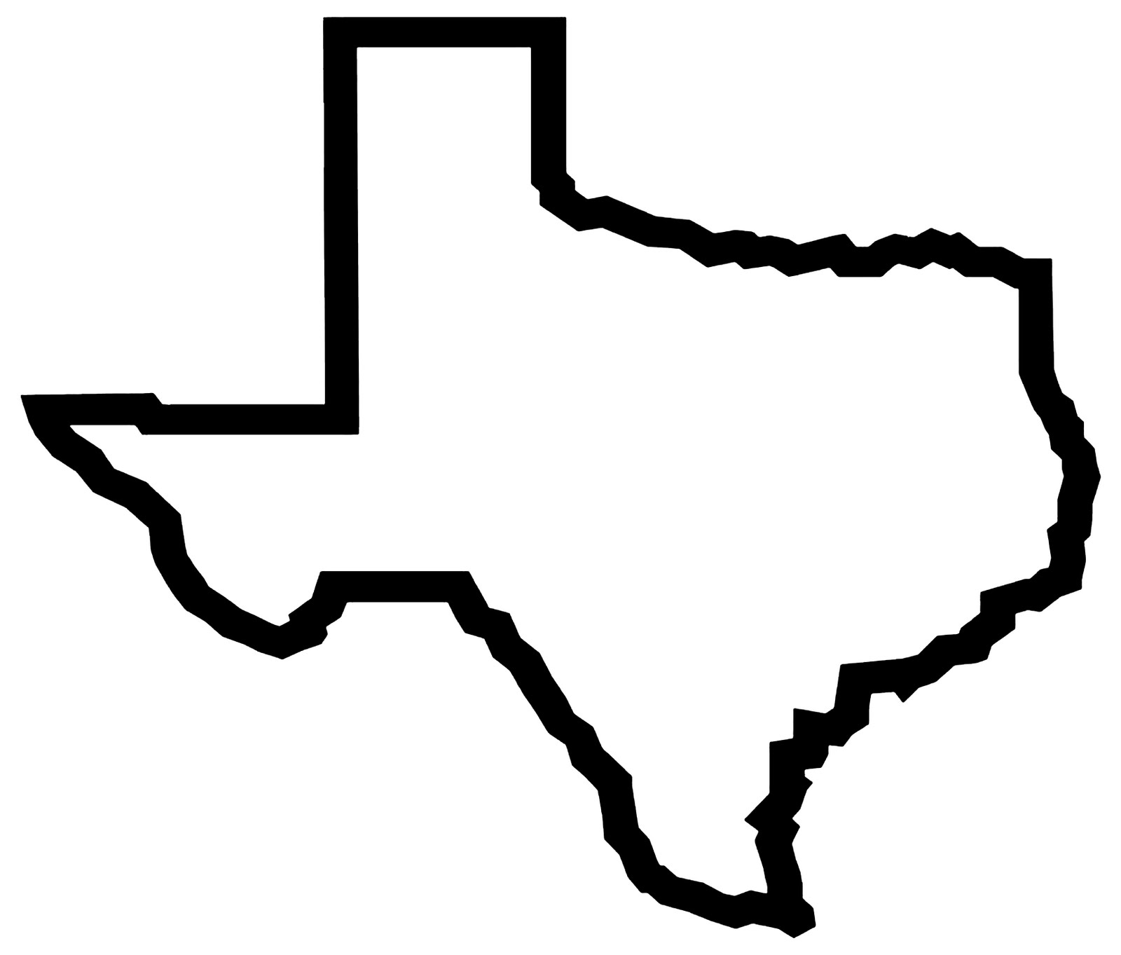 Texas Outline Clipart .