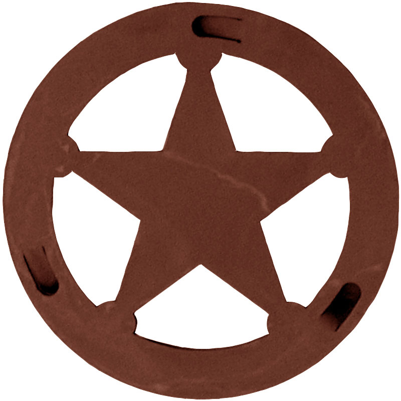 Texas Star Round Trivet By Ironwood Industries Nc Rustic