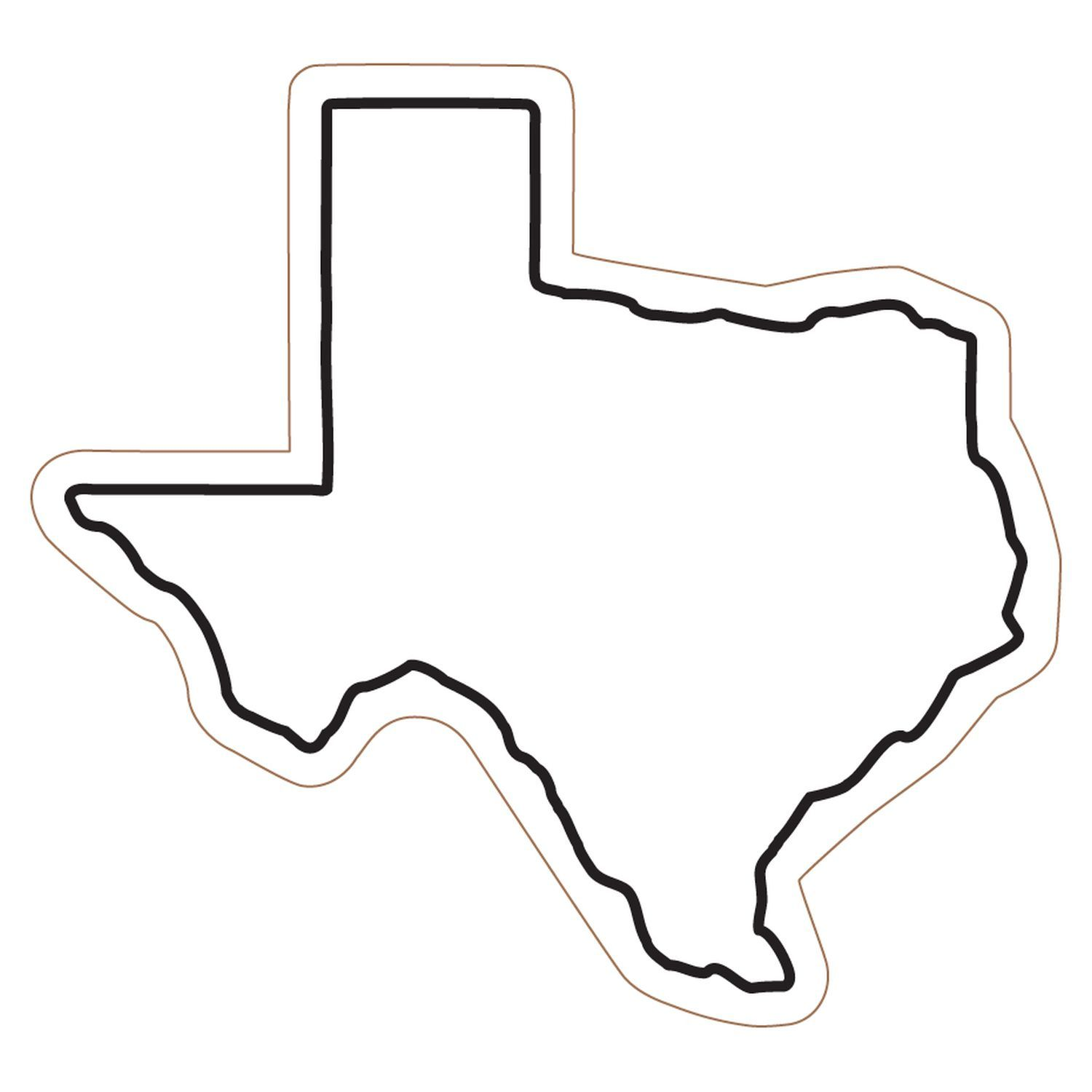 Texas State Clip Art. Outline .