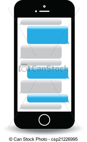 ... text messaging - a blue mobile phone text messaging screen