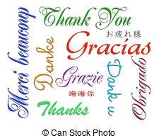 ... Thank you card many languages - Illu-... Thank you card many languages - Illustration composition of.-8