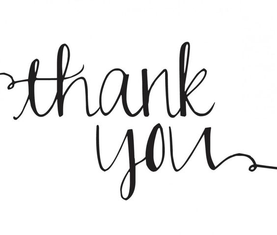 Thank you white. Clipart black and