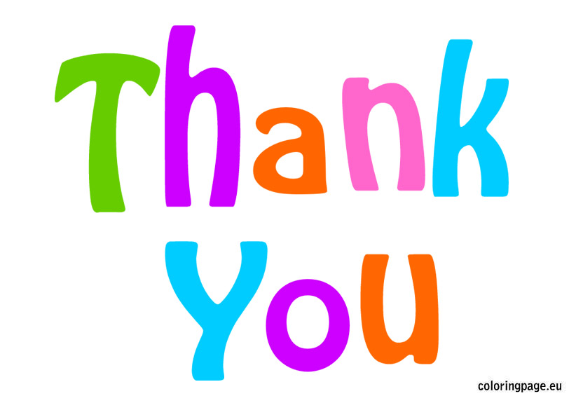 Thank You Clip Art Coloring Page-Thank You Clip Art Coloring Page-15