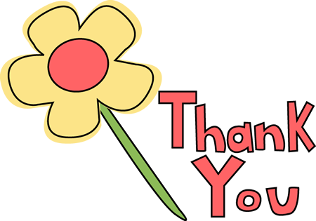 Thank You Flower - Clip Art Thanks