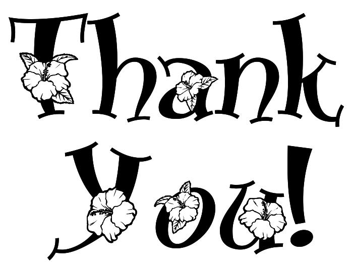 Thank You Note Floral Bw .-Thank you note floral bw .-18