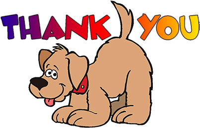 thank you with puppy