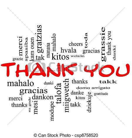 ... Thank You Word Cloud Concept in Red -... Thank You Word Cloud Concept in Red Caps - Thank You Word.-18