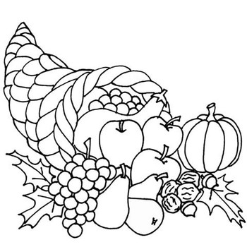 Thanksgiving black and white  - Black And White Thanksgiving Clipart