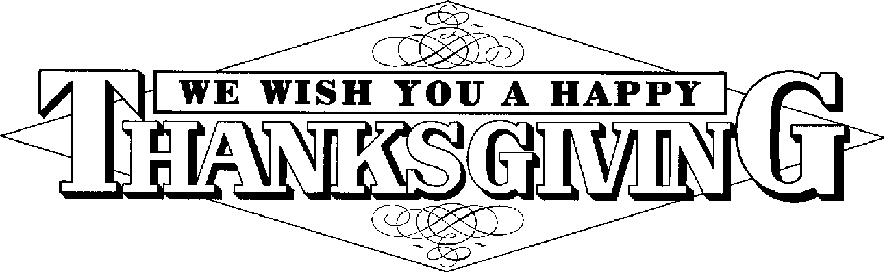 Thanksgiving Clip Art Black .