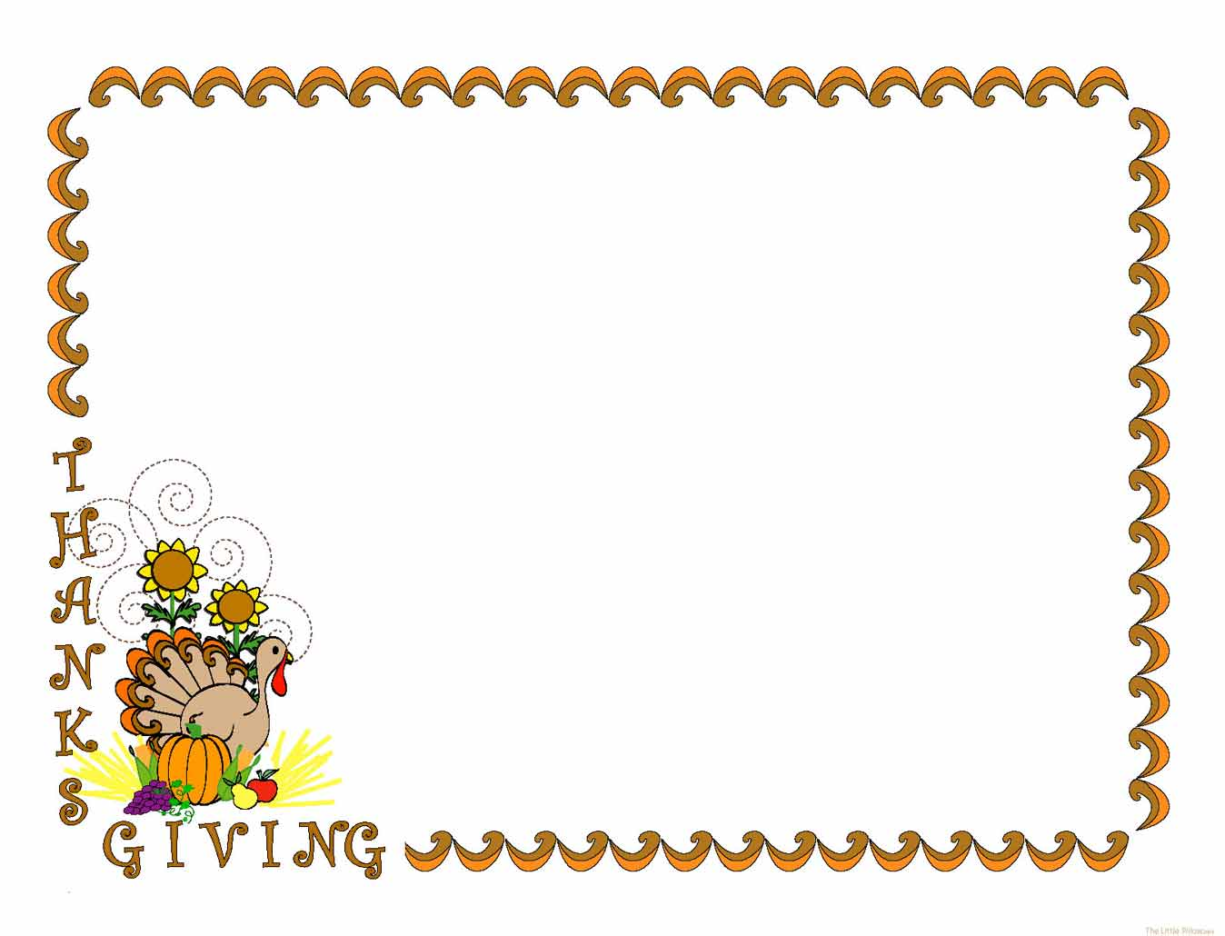 Thanksgiving Clip Art Borders - Thanksgiving Border Clipart