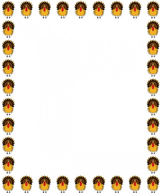 Thanksgiving Clip Art Frame Right Click Image Save As