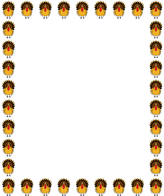 Thanksgiving Clip Art .. - Thanksgiving Border Clipart