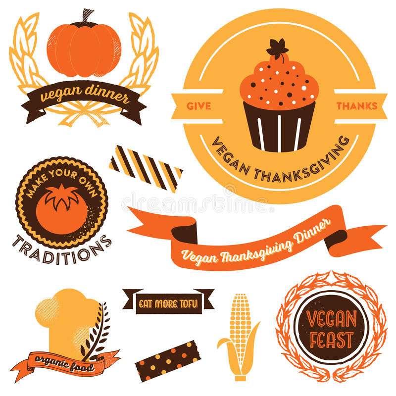 Download Vegan Thanksgiving Clipart stock vector. Illustration of cuisine -  46094235