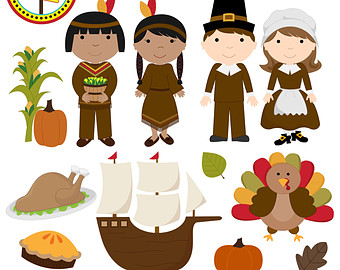 Thanksgiving Clipart - Thanksgiving Clip-Thanksgiving Clipart - Thanksgiving Clip Art - Cute Digital Clipart - Personal Use - Commercial Use - Card Design, Scrapbooking, Web Design-8