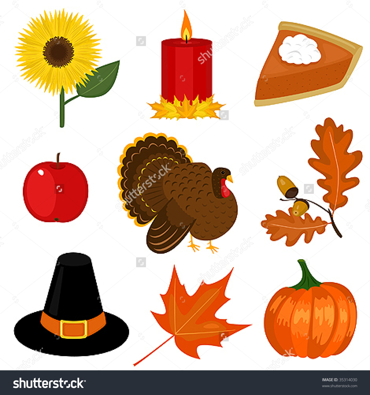 Thanksgiving Day Clip-Art Stock Vector I-Thanksgiving Day Clip-Art Stock Vector Illustration 35314030 : Shutterstock-6