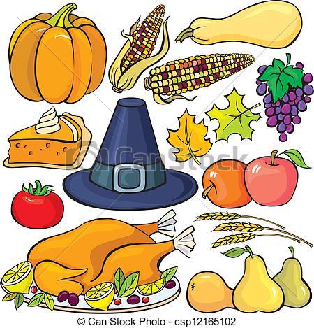... Thanksgiving Day Icon Set