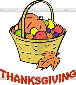 Thanksgiving Day - vector clip .